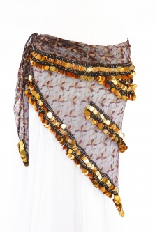 Mesh belly dance belt