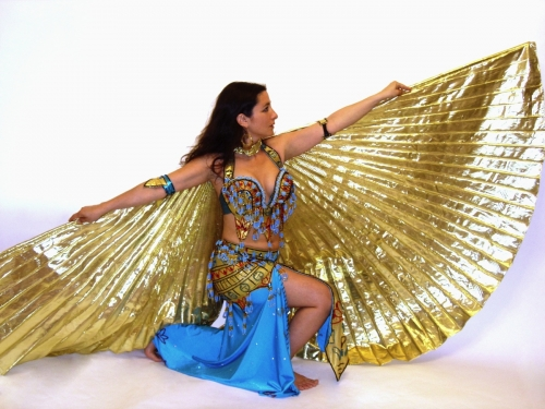 Belly dance metallic isis wings - in various colours