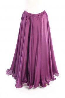 Plum purple silk belly dance skirt
