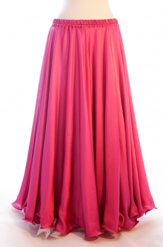 Pink silk belly dance skirt