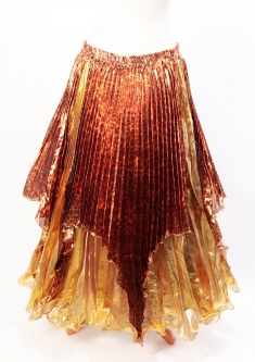 Pleated belly dance skirt - Leopard Pride