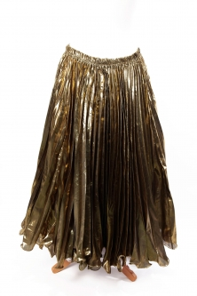 Pleated belly dance skirt - golden forest