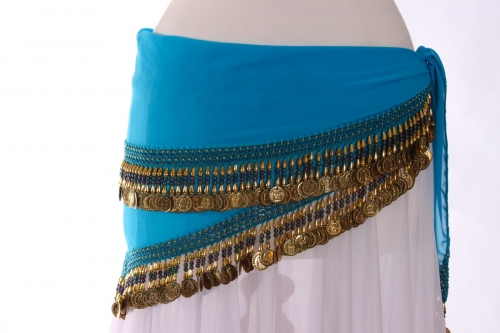 Rich coin edge triangles belly dance belt