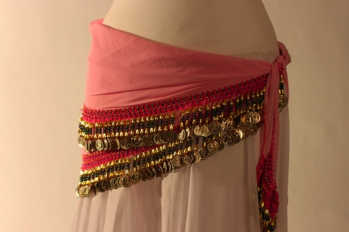 Rich coin edge triangle belly dance belt