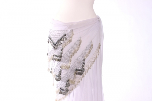 Rich large chiffon triangles belly dance belt