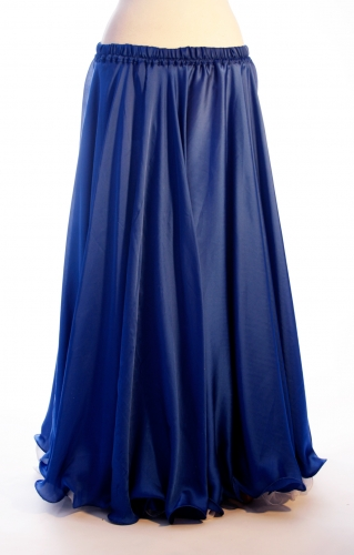 Royal blue silk belly dance skirt