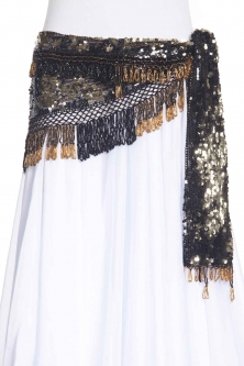 Sequinned net crochet belly dance belt