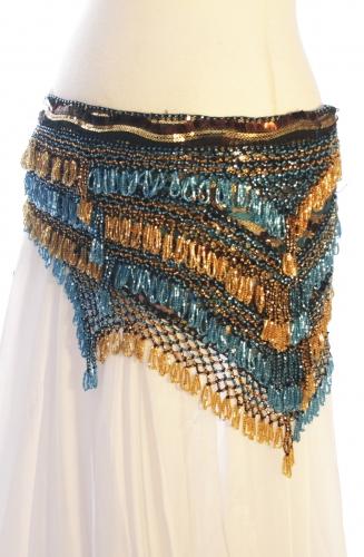 Sequinned net rich belly dance belt