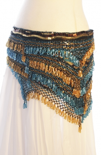 Sequinned net rich belly dance belt