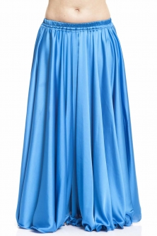 Sky blue silk belly dance skirt