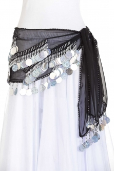 Spangle belly dance belt