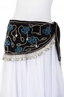 Stylish velvet belly dance belt