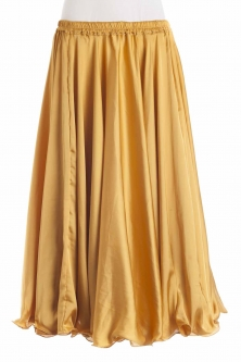 Sun gold silk belly dance skirt