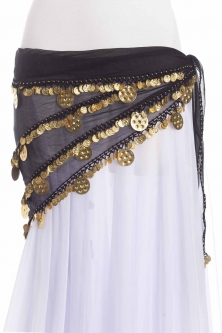 Triangular chiffon belly dance belt