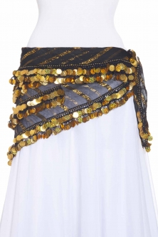 Triangular mesh belly dance belt