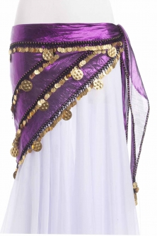 Triangular metallic belly dance belt
