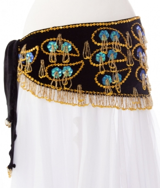 Unique designer belly dance belt