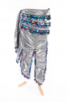 Full length long chiffon belly dance belt