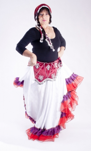 Velvet belly dance belt
