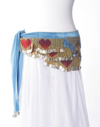 Velvet heart belly dance belt