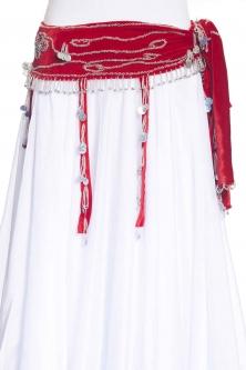 Velvet tasselled belly dance belt