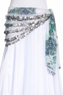 Vintage style coin row belly dance belt
