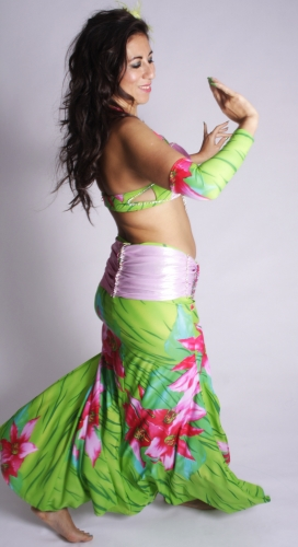 WOW! Belly dance costume - Floral Fantasia