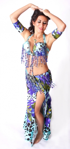 WOW! Belly dance costume - Midnight Garden
