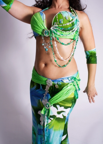 WOW! Belly dance costume - Water Lily