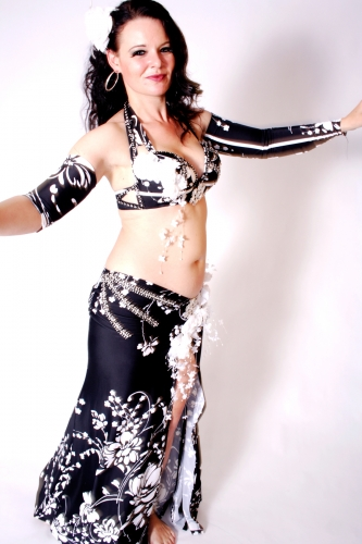 WOW! Belly dance costume - Flower Frost