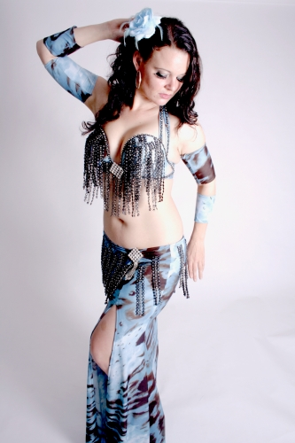 WOW! Belly dance costume - Indigo Angel