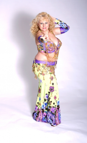 WOW! Belly dance cabaret costume - Glitter Garden