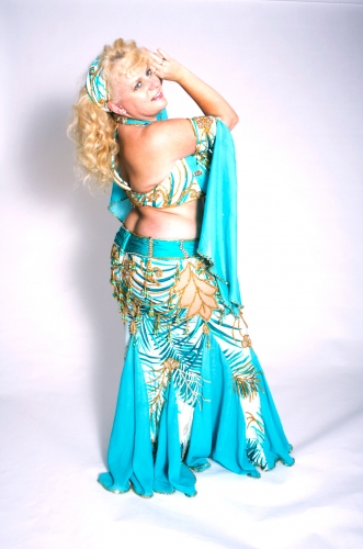 WOW! Belly dance cabaret costume - Aquamarine Dream
