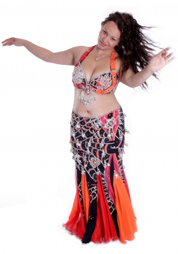 Belly dance cabaret costume - Bonfire of Fantasies