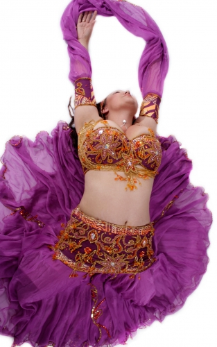 Belly dance cabaret costume - Nairobi Nights