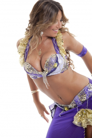 Couture belly dance costume - Lady Luck