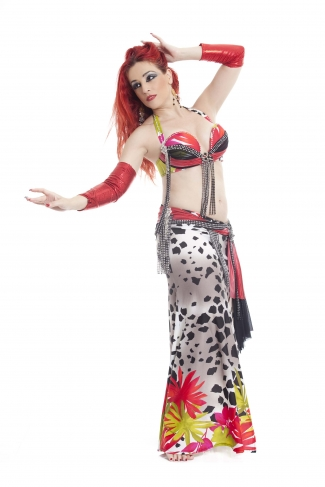 Couture belly dance costume - HOT LIKE FIRE!