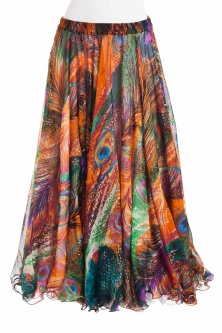 Belly dance luxury sari print skirt